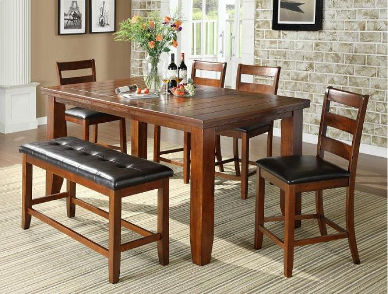 Barrons Furniture And Appliance Counter Height Dining Furniture - 36 x 48 dining table with leaf