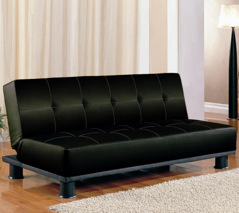 Image gallery leather futons for Overstock furniture and mattress houston